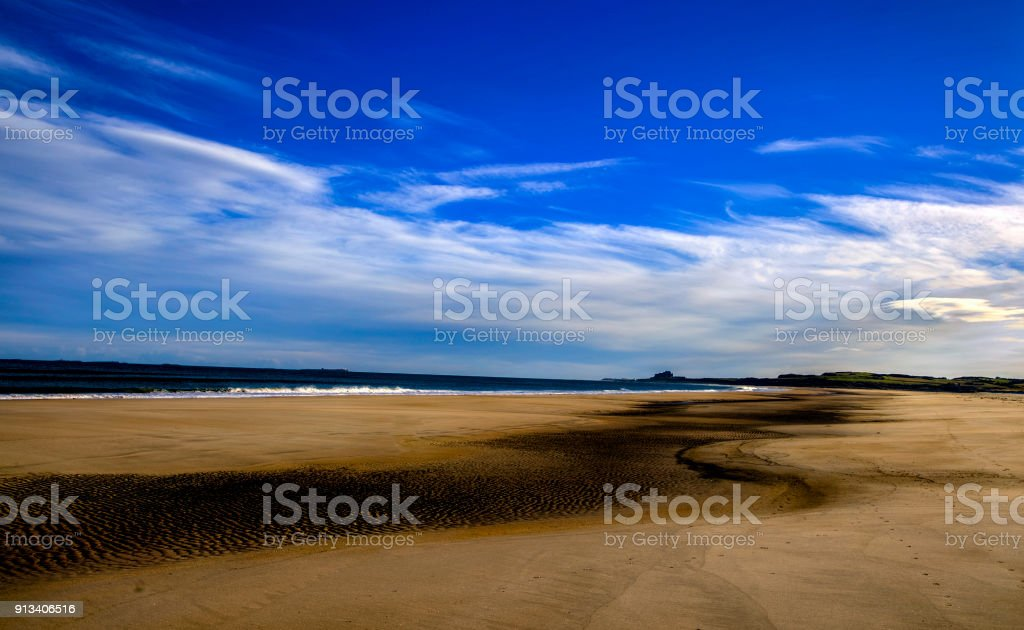 Miles of beach stock photo