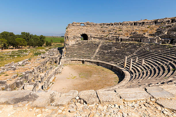 Miletus, Turkish Milet, theatre view, Turkey stock photo