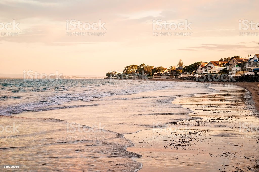 Milford beach stock photo