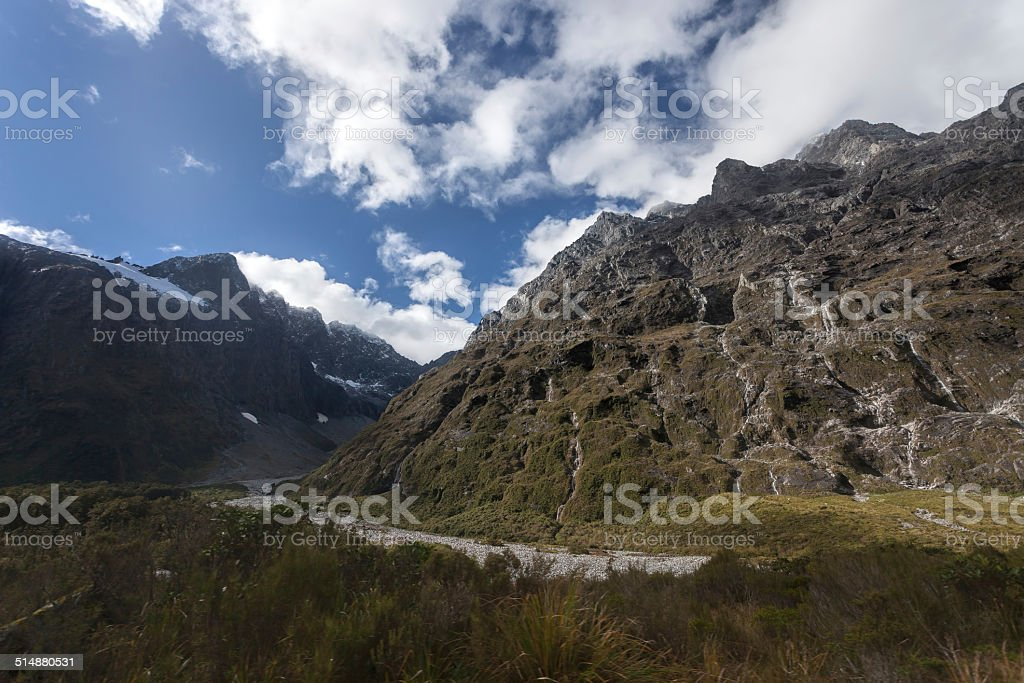 Milford Sound Highway stock photo