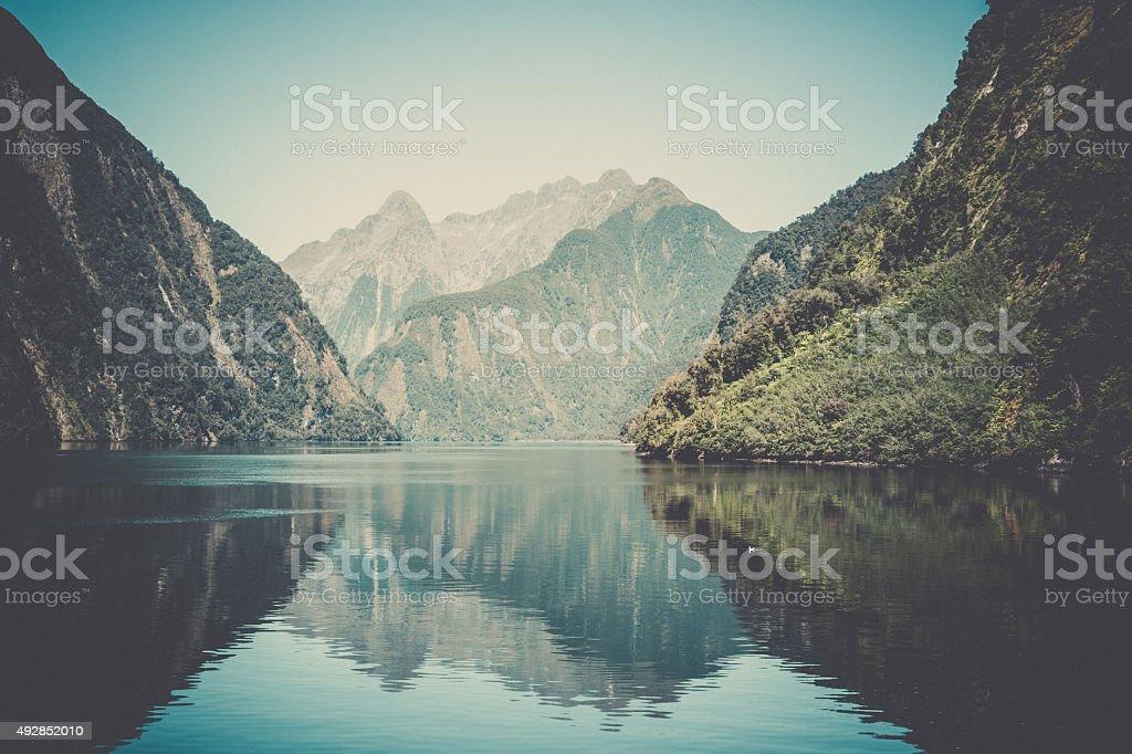 Wonderful Milford Sound Landscape, South Island, New Zealand Stock Photo