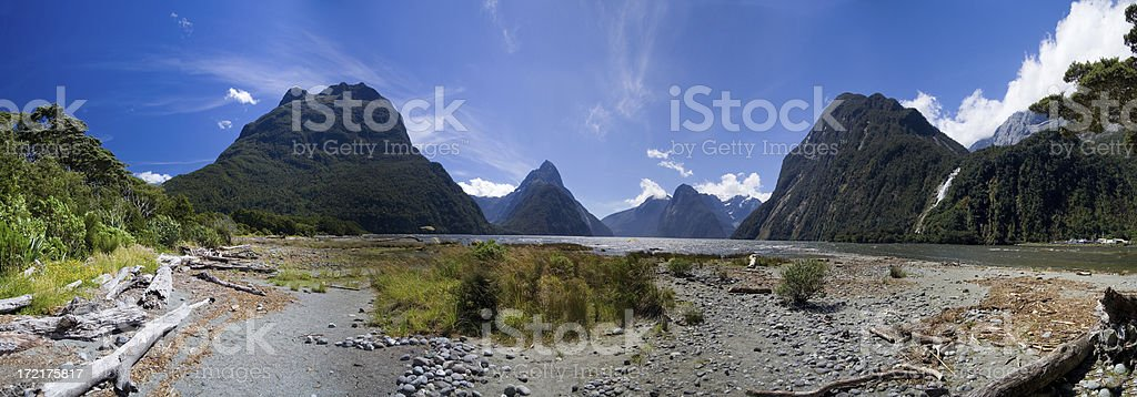 Milford Sound, New Zealand royalty-free stock photo