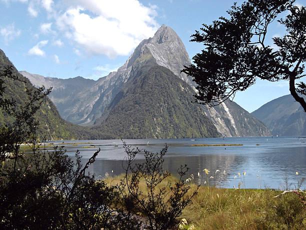 Milford Sound New Zealand stock photo