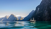 World famlous Fiord of Milford Sound in South Island of New Zealand. This Fiord is located in Fiordland National park.