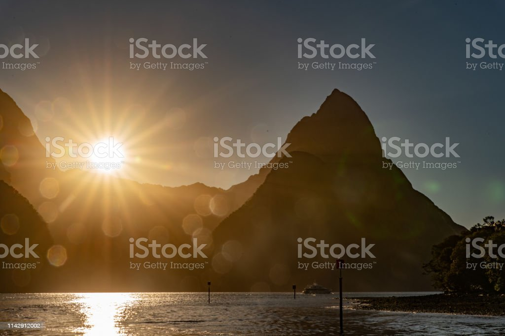 Milford sounds stock photo