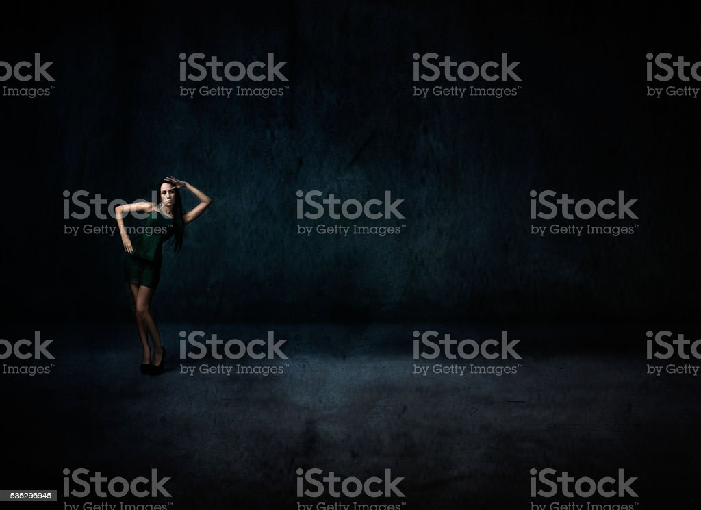miliary saluting for a nice girl stock photo