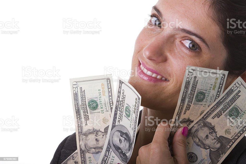 Milionaire woman royalty-free stock photo