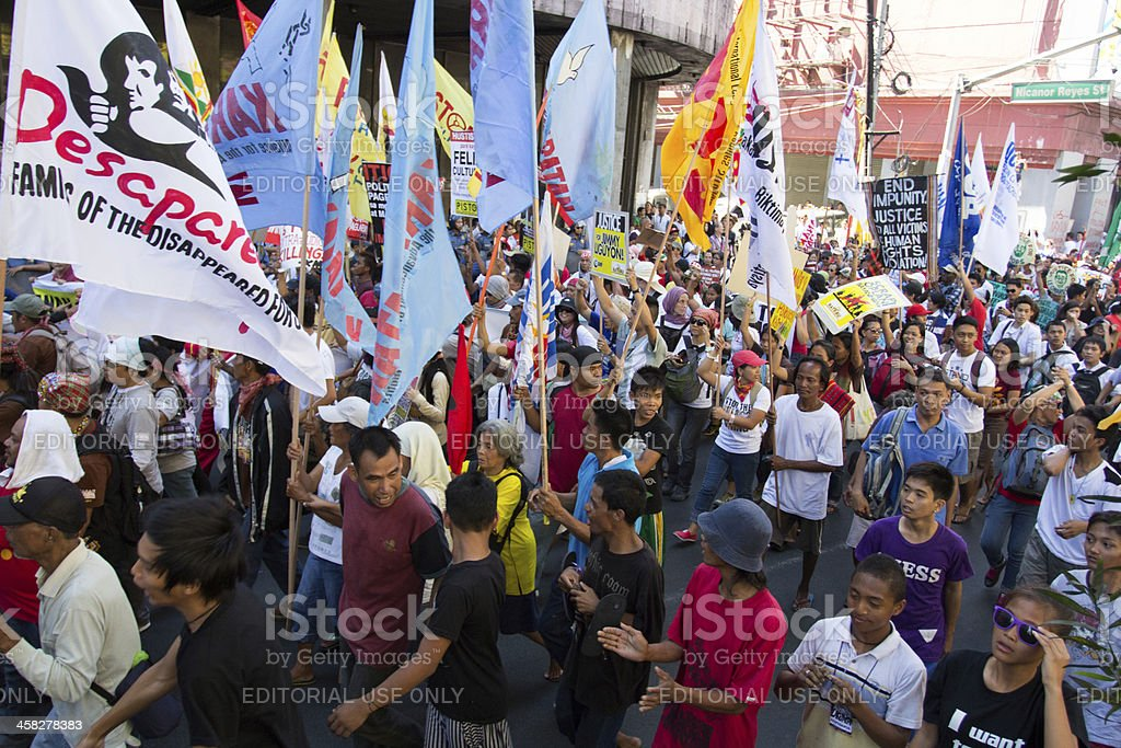 Militant group in the Philippines stock photo