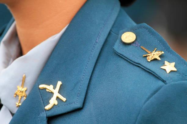 Militar uniform detail stock photo