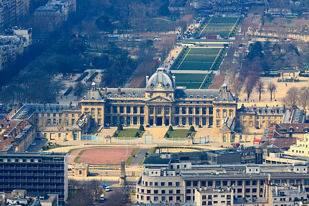 Military Academy in Paris, view from top Military Academy in Paris, France, view from top ecole stock pictures, royalty-free photos & images
