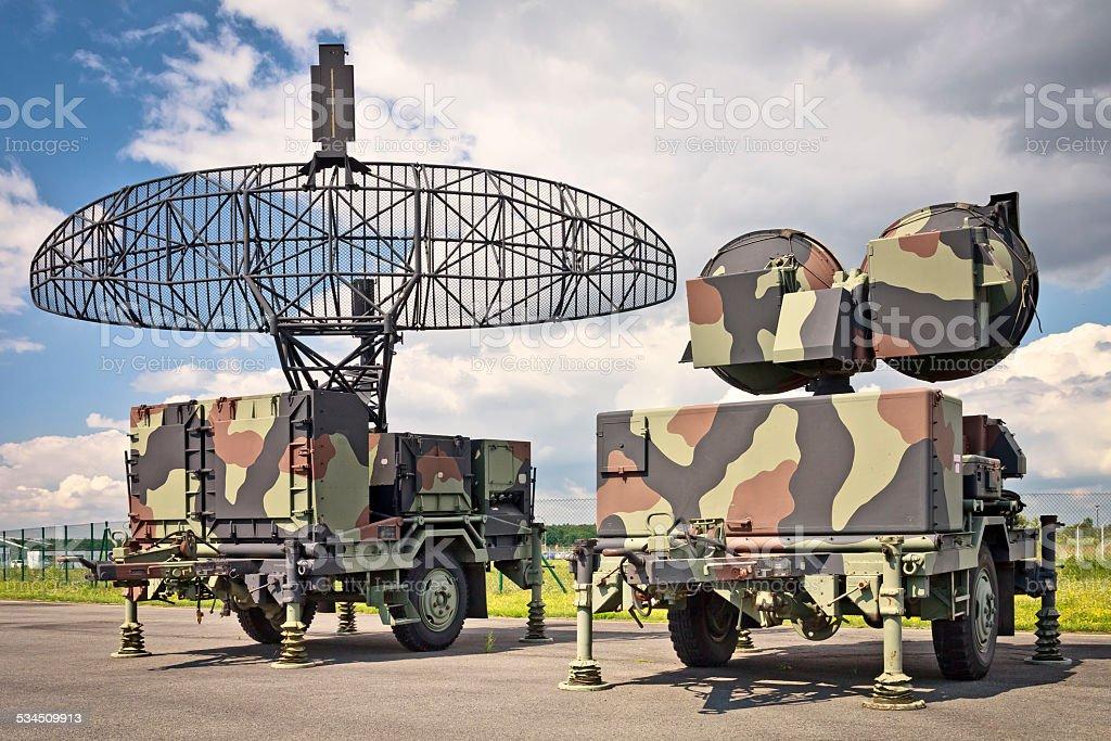 Military Air control Radar stock photo
