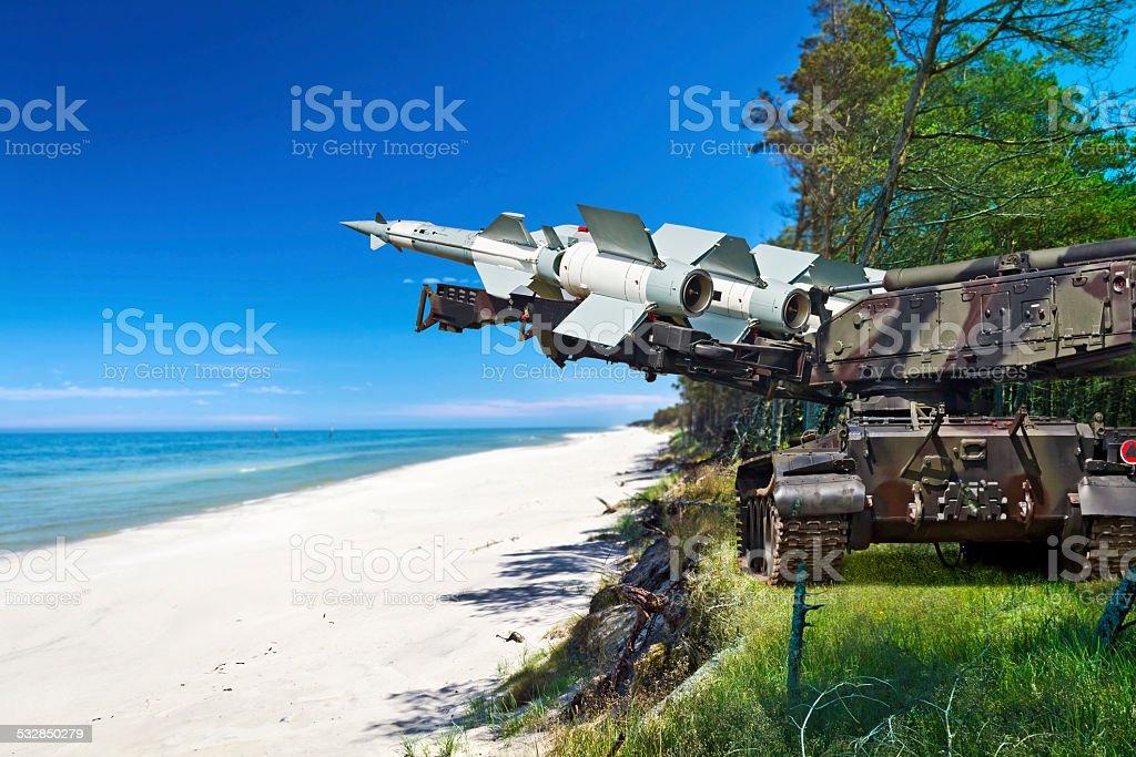 Medium range self-propelled anti-aircraft missiles S-125 Neva ready...