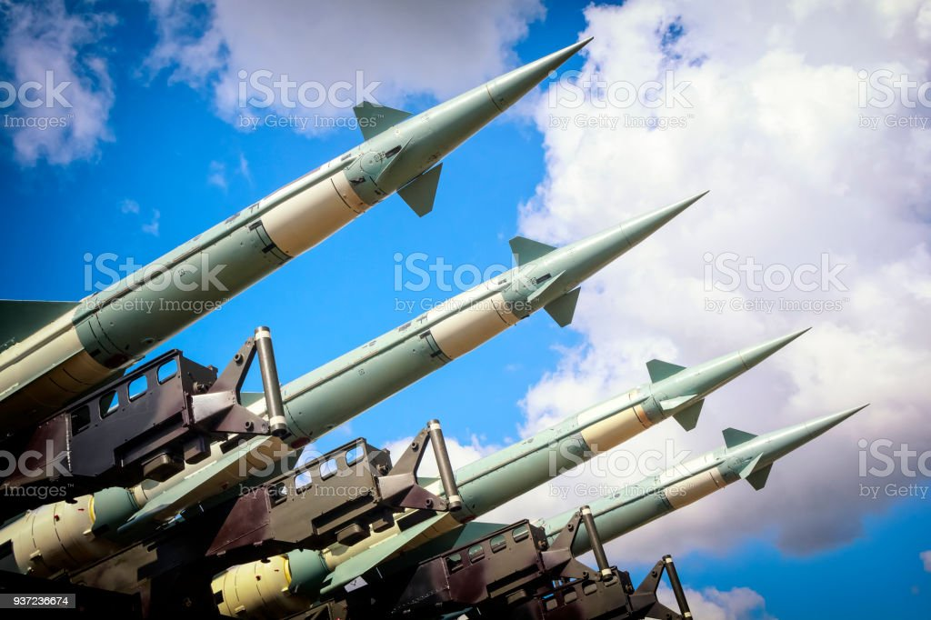 Military air missiles in defense readiness in exercises on the...