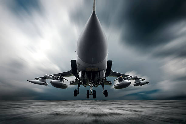 Military airplane at flying on the speed Military airplane at flying on the speed supersonic airplane stock pictures, royalty-free photos & images
