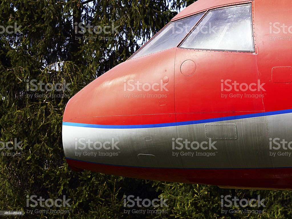 Military Airplane. Color Image royalty-free stock photo