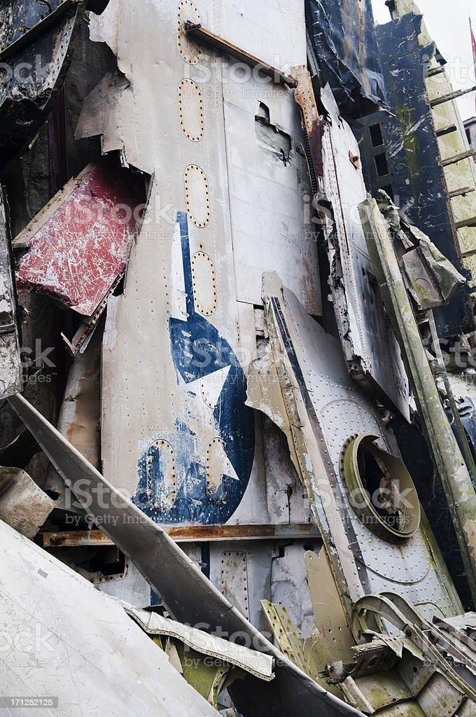 US Military Airplane Vietnam War Wreckage stock photo