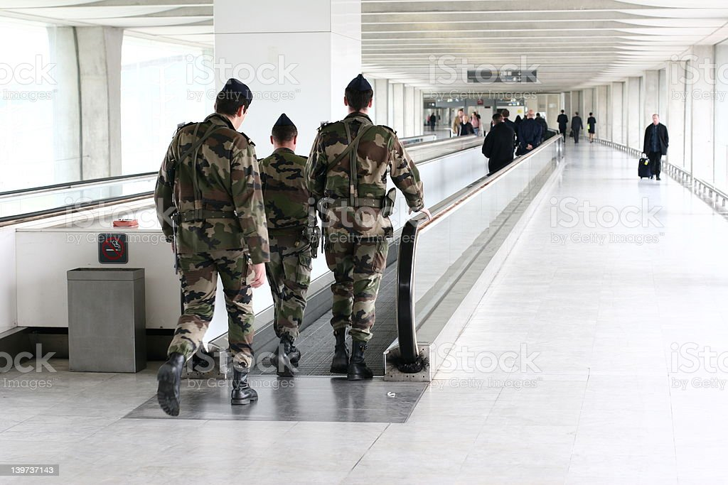 military airport stock photo