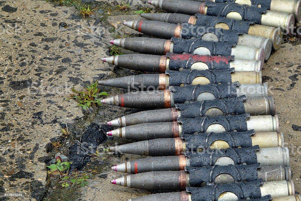 Military ammunition stock photo