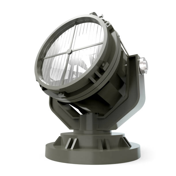military antiaircraft searchlight military antiaircraft searchlight isolated on white. 3d illustration antiaircraft stock pictures, royalty-free photos & images