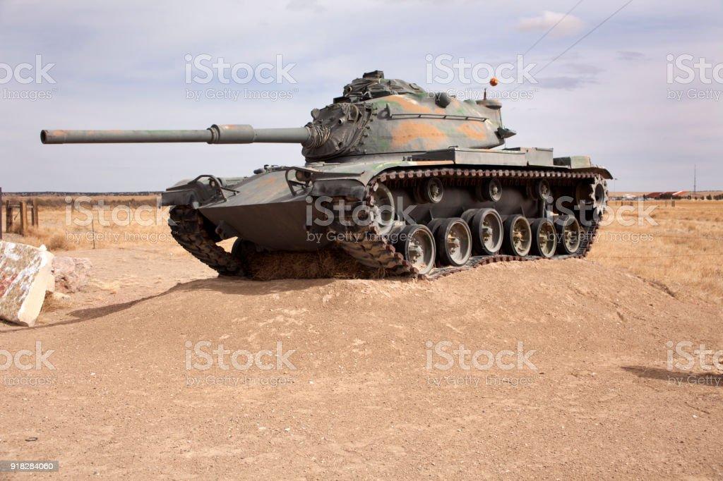 Military armored tank Army Fort Carson Pinon Canyon Maneuver Site Colorado stock photo