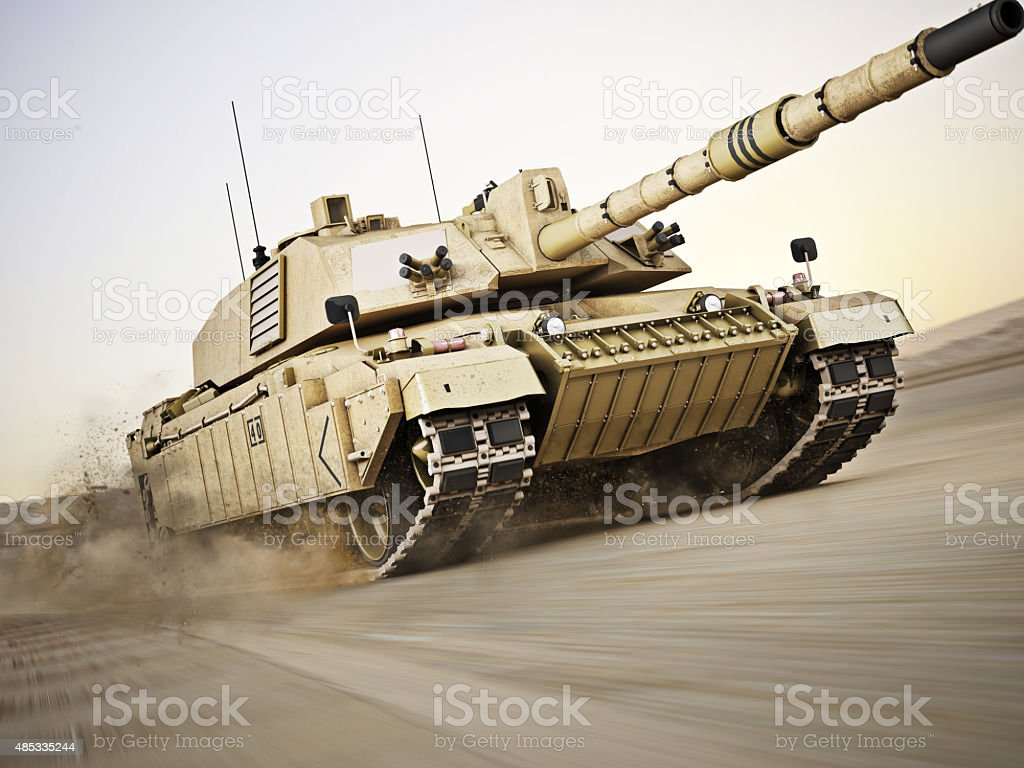 Military armored tank stock photo