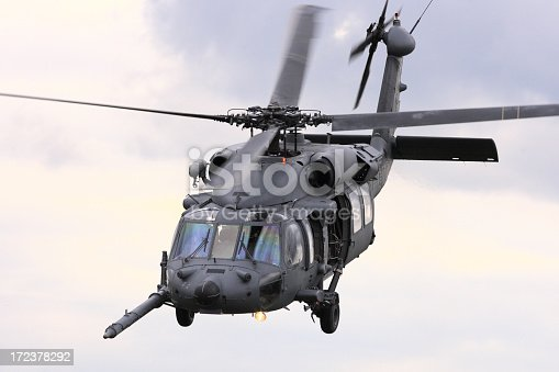 istock Military attack helicopter flying 172378292