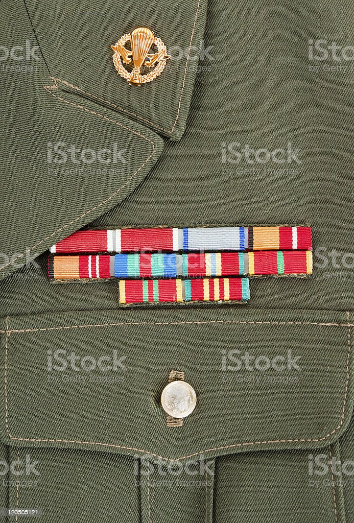 Military awards and decorations stock photo