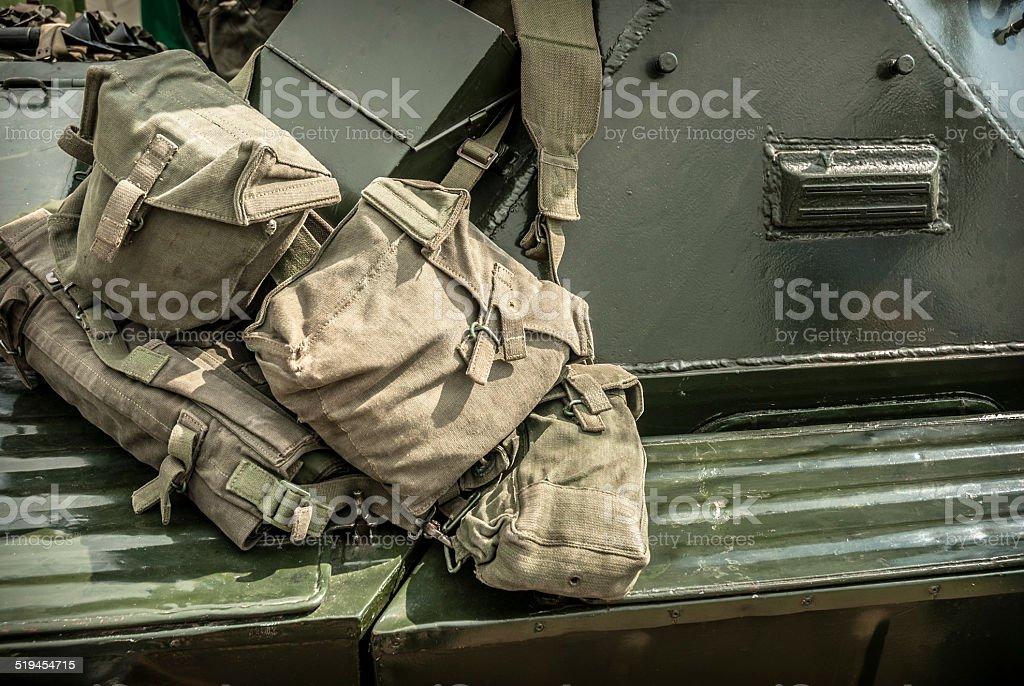 Military Bags stock photo