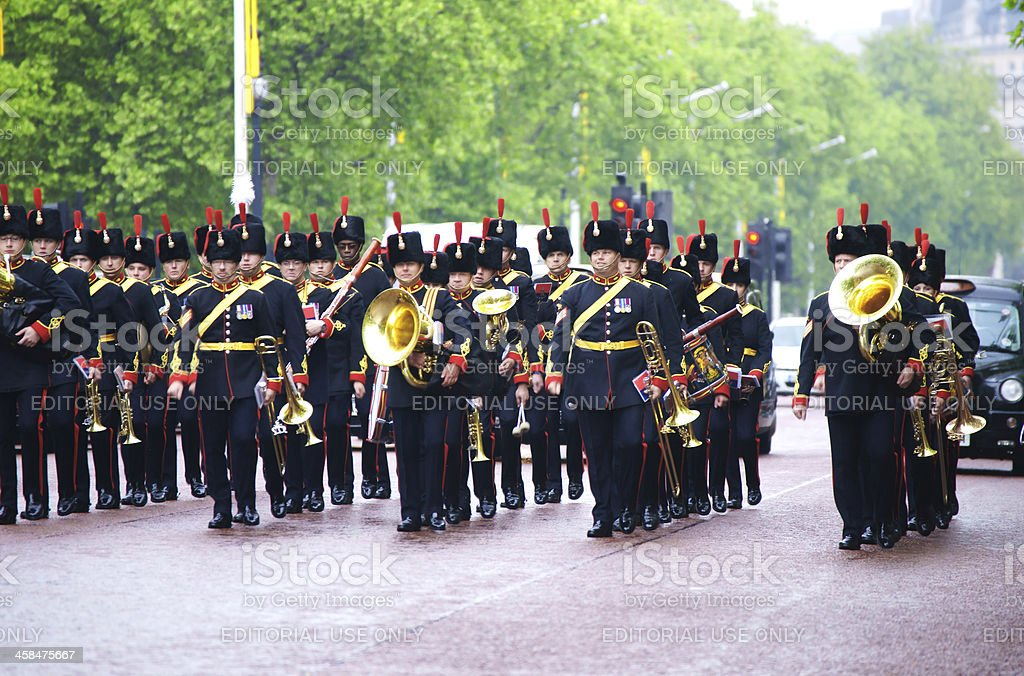 Military band in London royalty-free stock photo