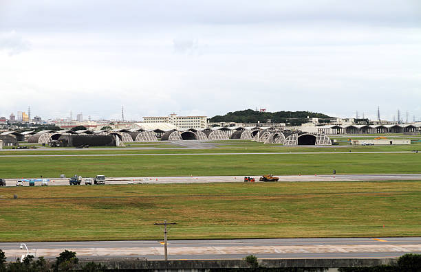 US military base in Okinawa, Japan US military base in Okinawa, Japan military base stock pictures, royalty-free photos & images