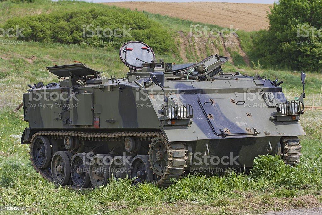 Military battlefield transport vehicle stock photo