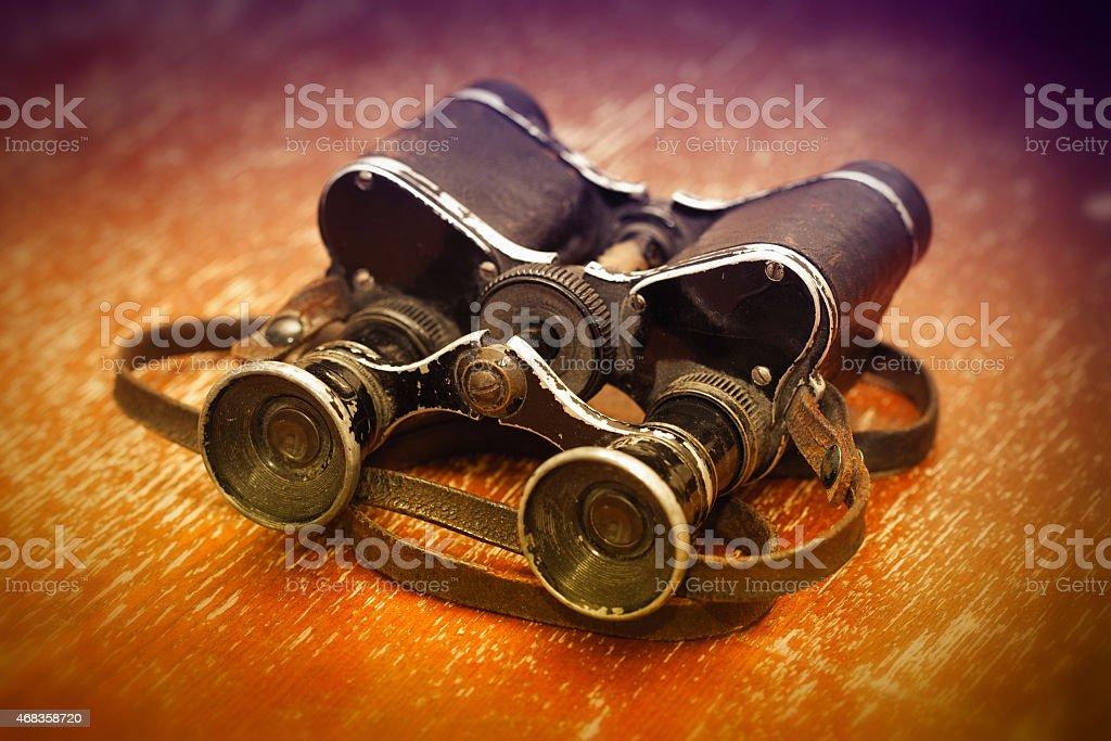 Military binoculars WWII. royalty-free stock photo
