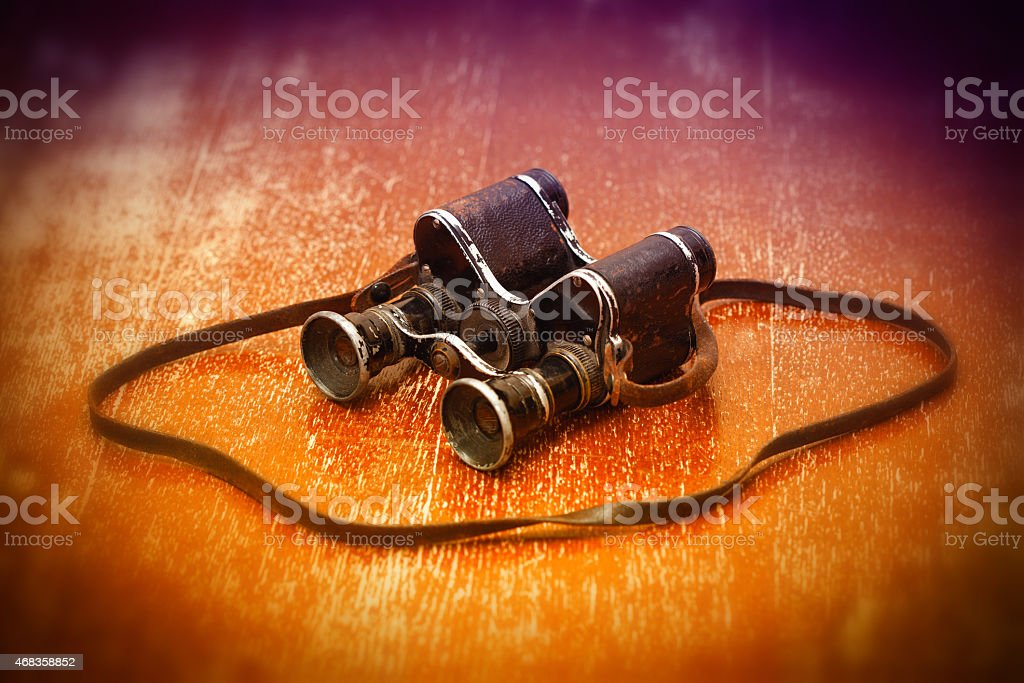 Military binoculars WWII royalty-free stock photo