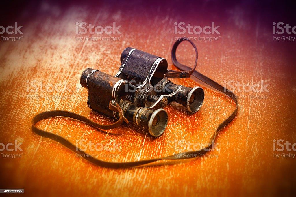 Military binoculars WWII royalty-free stock photo