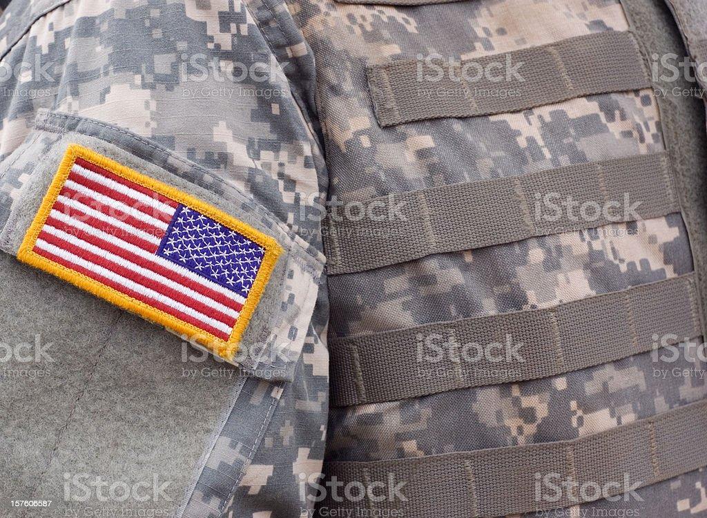 U.S. Military Body Armor royalty-free stock photo