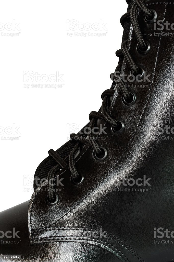 military boot stock photo