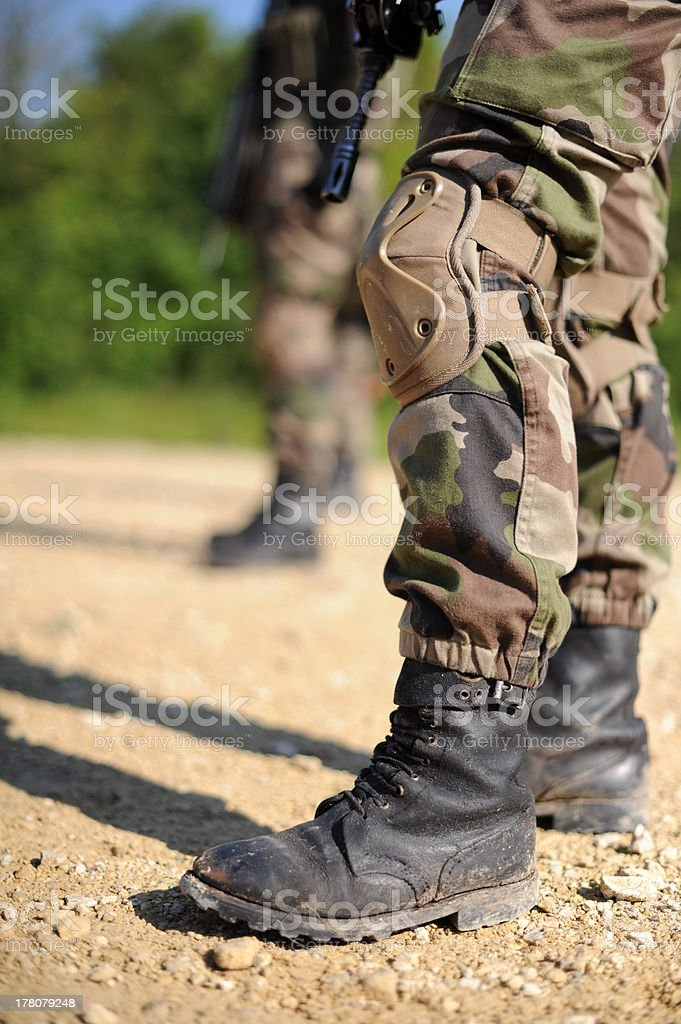 military boots royalty-free stock photo