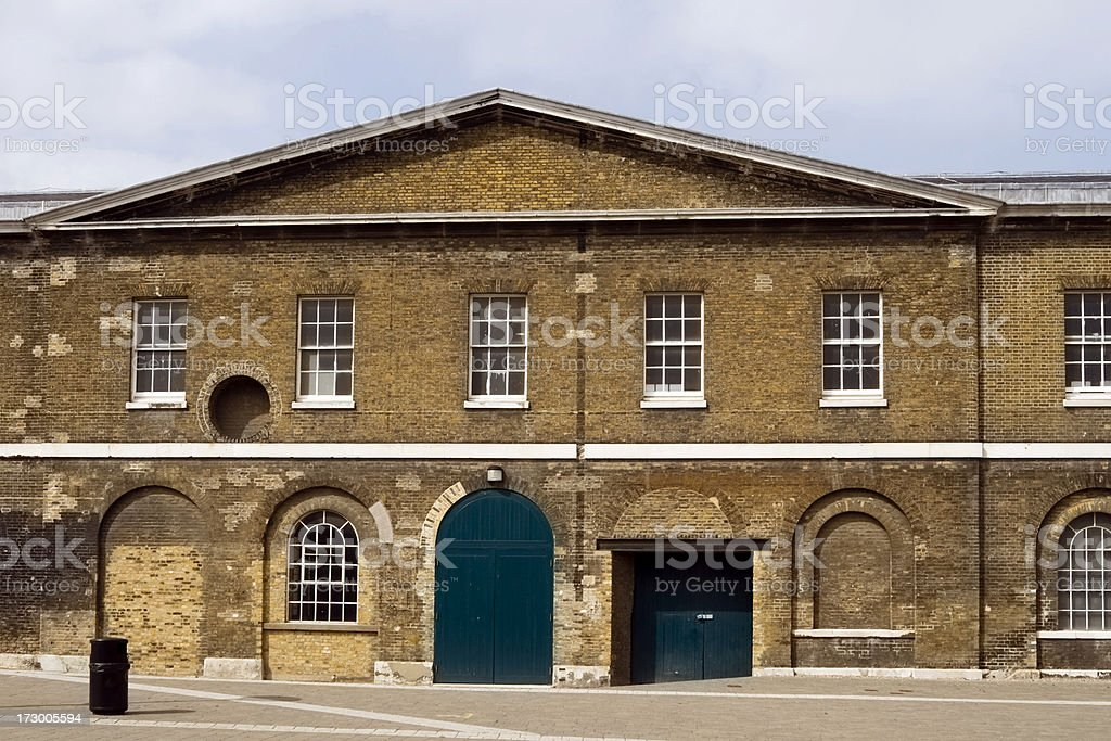 Military building at Woolwich royalty-free stock photo