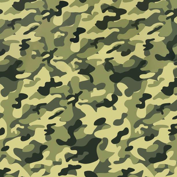 military camouflage seamless pattern, texture. abstract army and hunting masking ornament - kamuflaż zdjęcia i obrazy z banku zdjęć