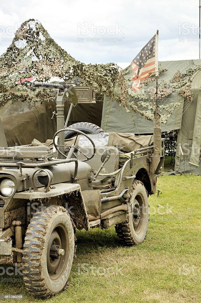 WW2 US Military Camp royalty-free stock photo