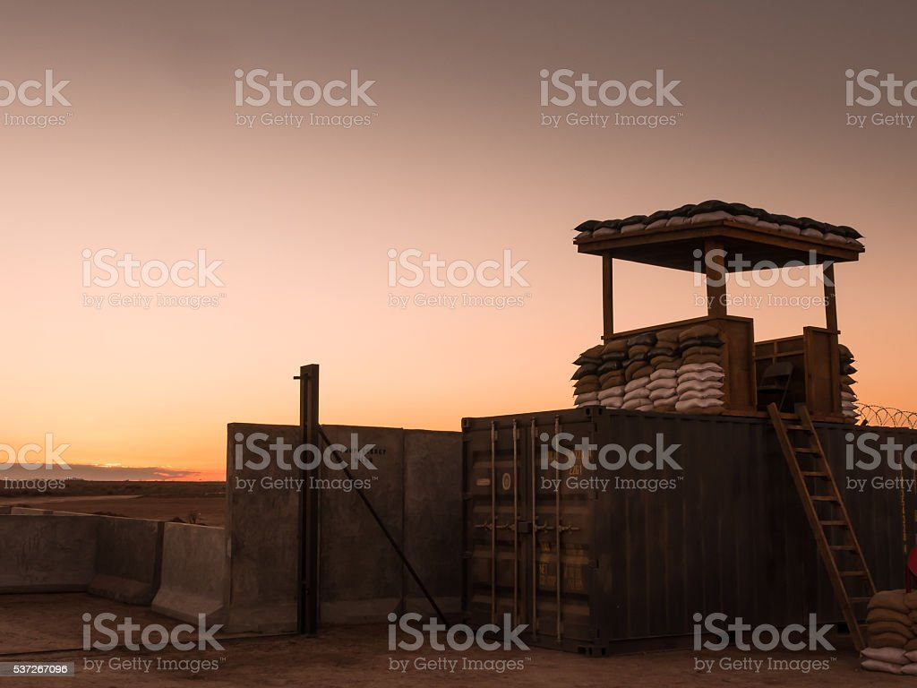 Military camp somewhere in the world IV stock photo