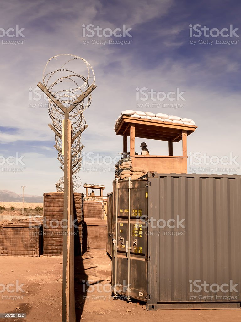 Military camp somewhere in the world stock photo