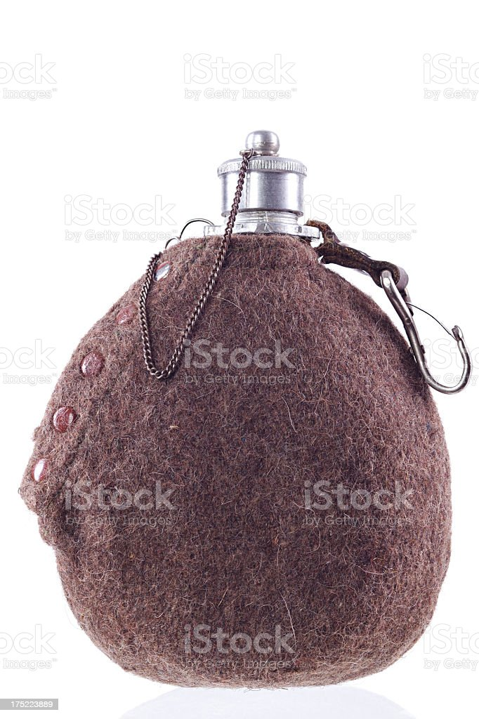 WWII Military canteen Water bottle royalty-free stock photo