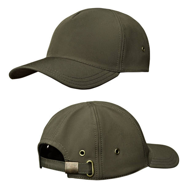 Military cap, khaki helmet Military cap, khaki helmet, isolated white background uniform cap stock pictures, royalty-free photos & images