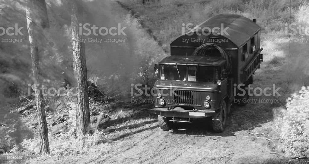 Military car GAZ 66. stock photo