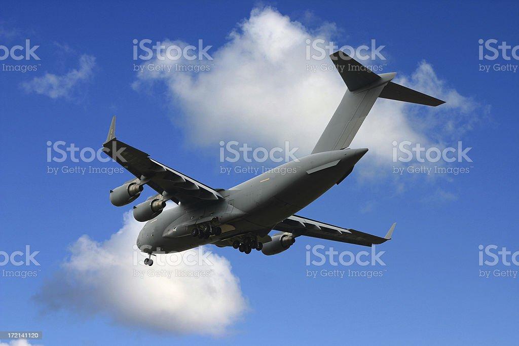 Military cargo airplane royalty-free stock photo