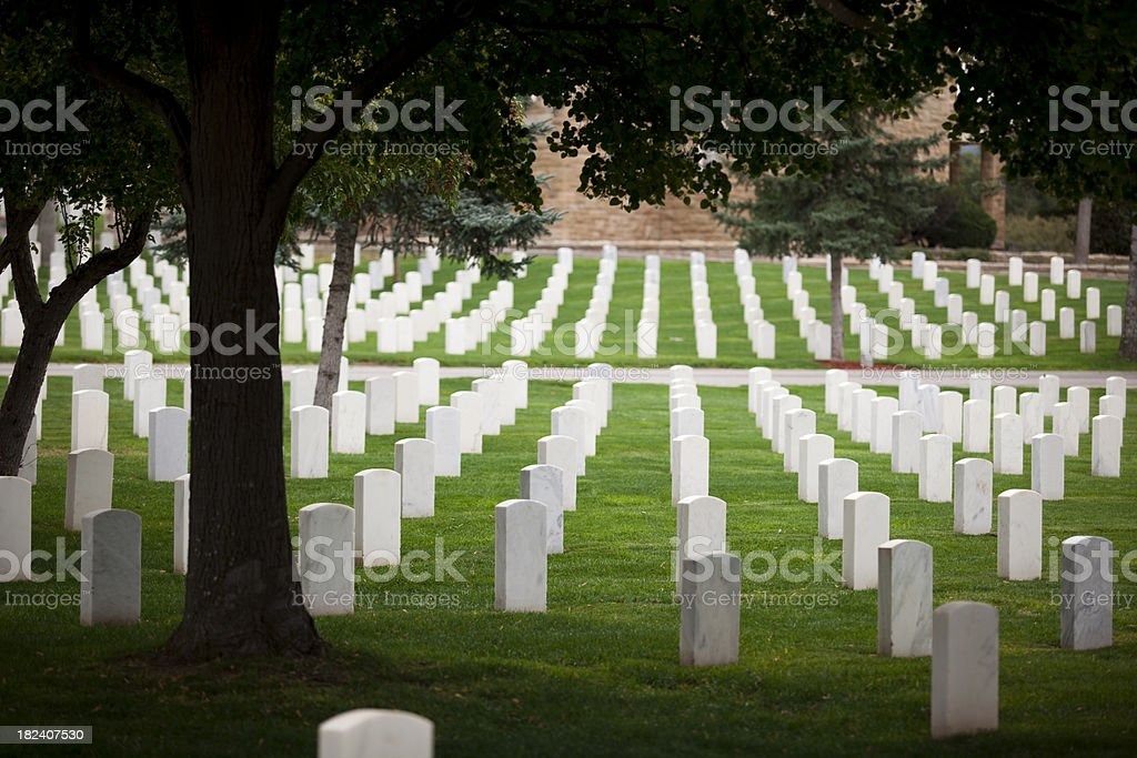 Military cemetary for soldiers royalty-free stock photo