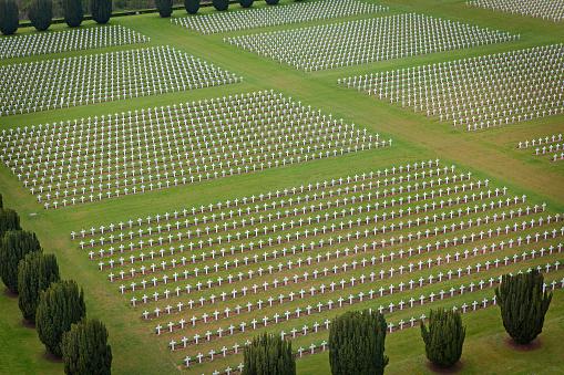 Military cemetery at Douaumont Ossuary in Verdun