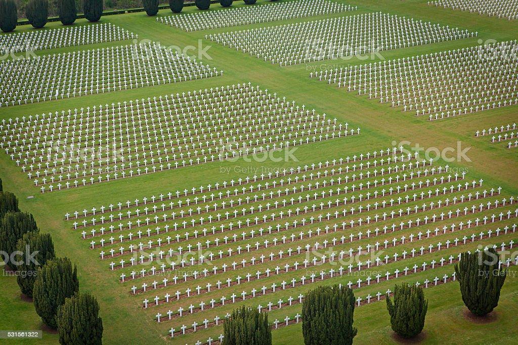 Cmentarz wojskowy w Douaumont Ossuarium w Verdun – zdjęcie