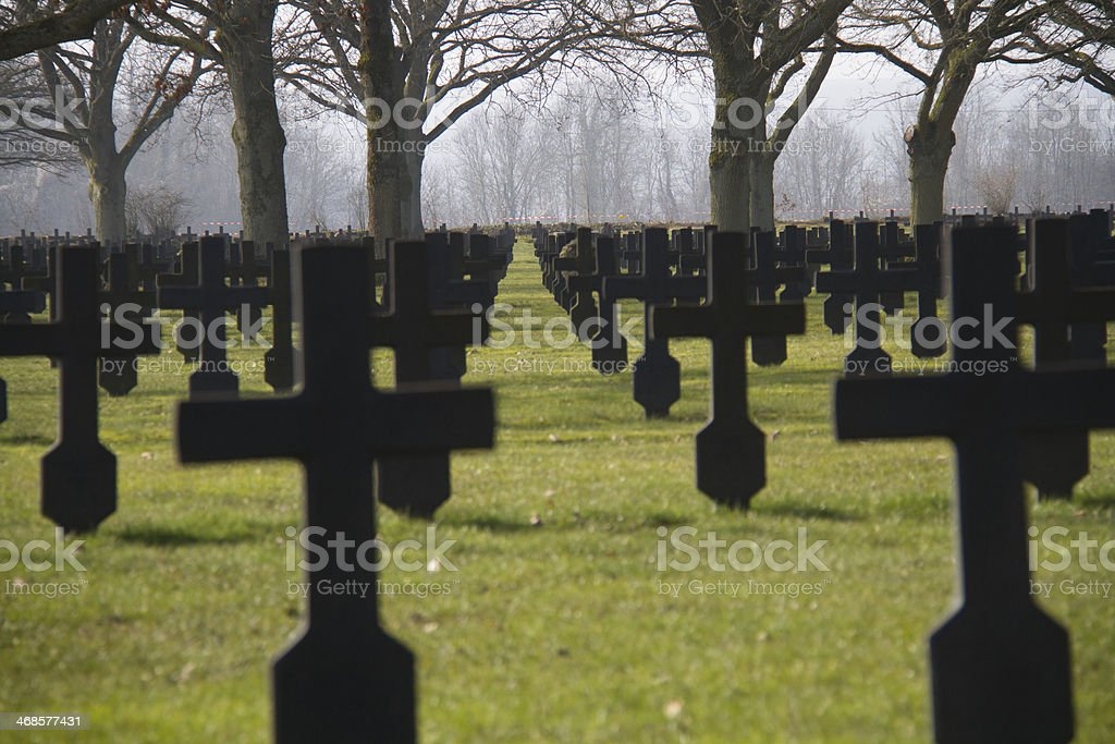 Military cemetery royalty-free stock photo